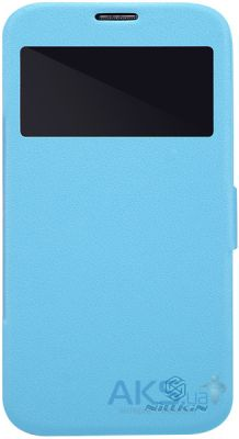 Чехол Nillkin Fresh Leather Series Samsung Galaxy Mega 6.3 i9200 i9205 Blue