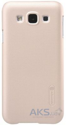 Чехол Nillkin Super Frosted Shield Samsung E500 Galaxy E5 Gold
