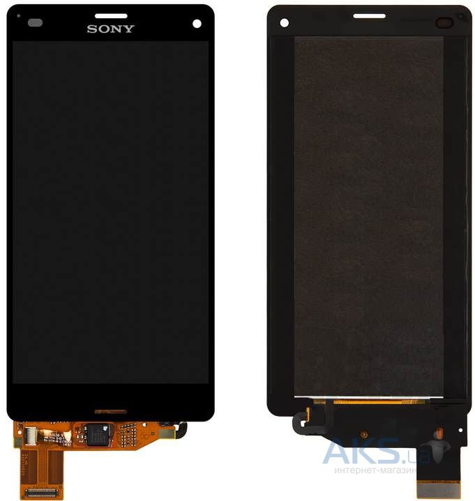 Дисплей (экран) для телефона Sony Xperia Z3 Compact D5803, Xperia Z3 Compact D5833 + Touchscreen Black