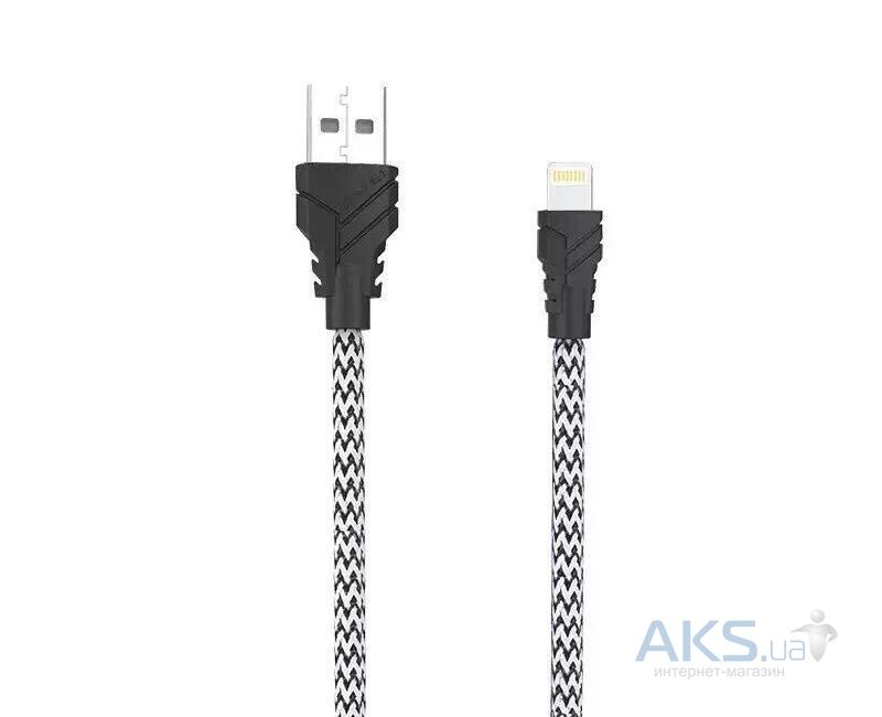 Кабель USB Awei Lightning Fast Data Cable Black / White CL-700