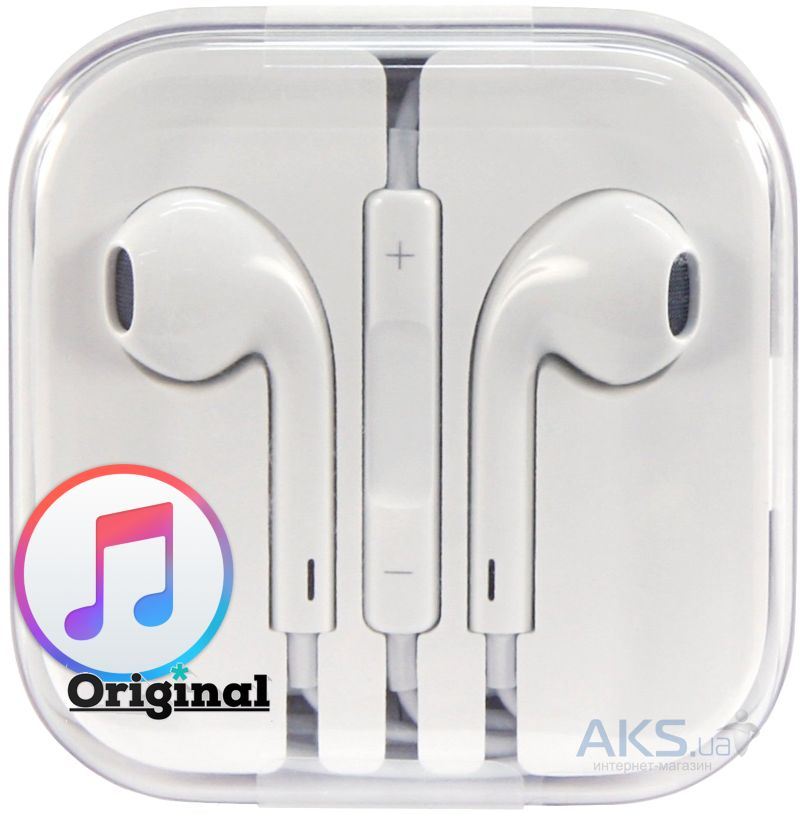 Гарнитура для телефона Apple Earpods Original with Remote and Mic (MD827) 37cc106dfade5