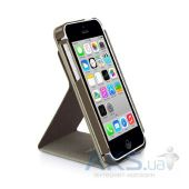 Вид 3 - Чехол Macally Flip Case W. Rotatable Stand For iPhone 5C Beige (SSTANDP6-B)