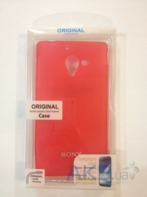 Чехол Celebrity TPU cover case for Sony Xperia ZL L35h Red