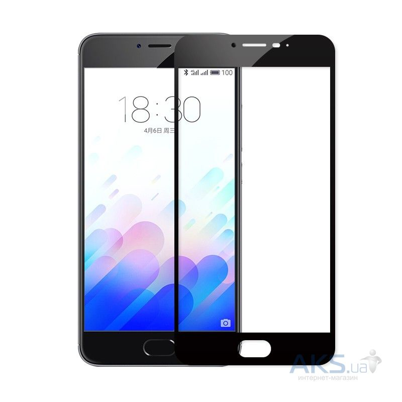 Защитное стекло Tempered Glass 3D Full Cover Meizu M3 Note Black