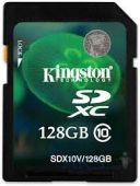 Карта памяти Kingston 128GB SDXC Class 10 UHS-I 30MB/s (SDX10V/128GB)