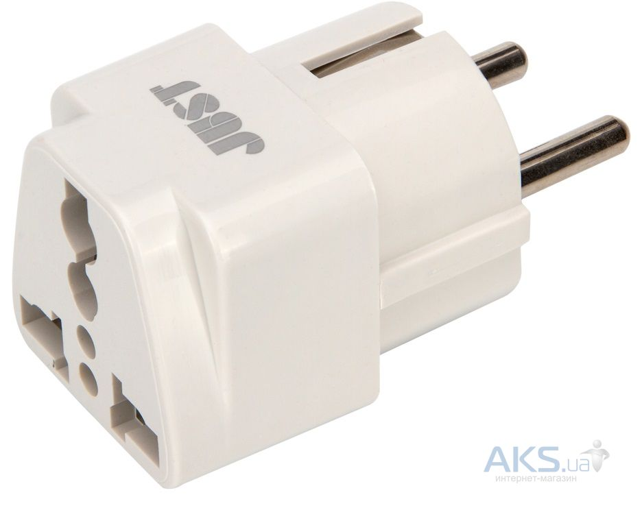 JUST Travel EU Plug White (PLG-TRLEU-WHT)