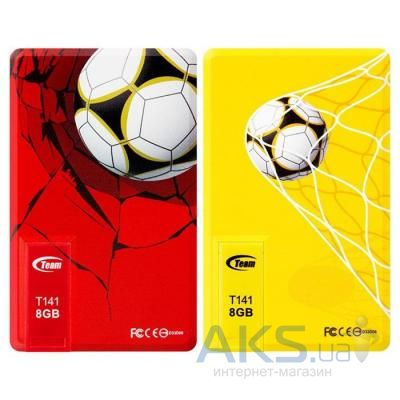 Флешка Team 16GB (2x8GB) T141 Football Cards Red & Yellow USB 2 (TT1418GZ13)