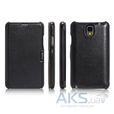 Чехол iCarer Side Open Luxury for Samsung N9000 Galaxy Note 3 Black