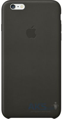 Чехол Apple Leather Case for iPhone 6 Plus Black (MGQX2)