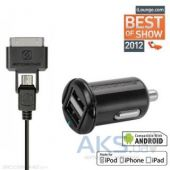 Зарядное устройство Scosche reVOLT pro C2 micro USB + 30-pin Apple Cable Black (IUSBC202M)