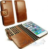Чехол Alston Craig Vintage Genuine Leather Wallet Case Cover for iPhone 6/6S Brown (G10_21)