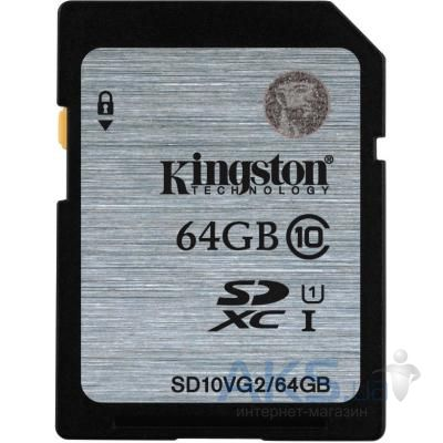 Карта памяти Kingston 64GB SDXC Class10 UHS-I (SD10VG2/64GB)