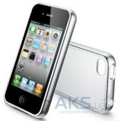 Чехол SGP Linear Case Color Series Soul Silver/White for iPhone 4S