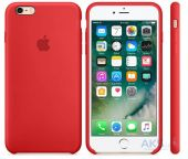 Apple Silicone Case Apple iPhone 6, iPhone 6S Red (MKY32_HC)