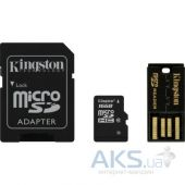 Карта памяти Kingston 16Gb microSDHC class 10 Gen 2 + SD-adapter + USB-reader (MBLY10G2/16GB)