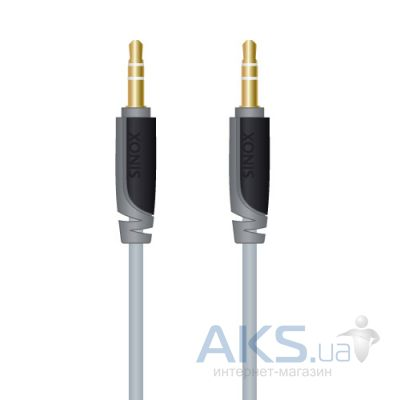 Аудиокабель Sinox SX Plus 3.5mm Stereo (slim),0.5m (SXA3300)