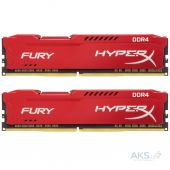 Оперативна пам'ять Kingston DDR4 32GB (2x16GB) 2400 MHz HyperX Fury RED (HX424C15FRK2/32)