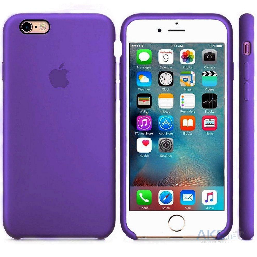 Чехол Apple Silicone Case Apple iPhone 6, iPhone 6S Violet_HC