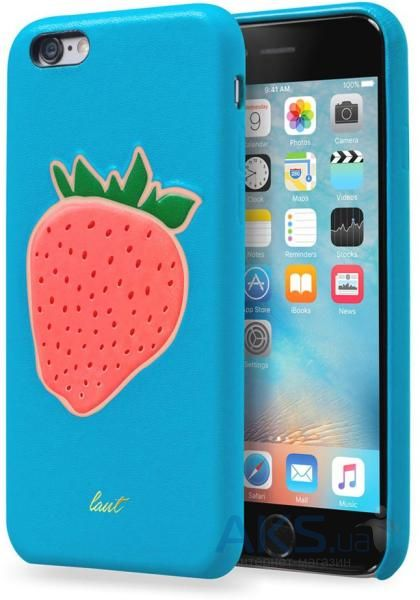 Чехол Laut Kitsch Series Apple iPhone 6, iPhone 6S Blue Strawberry (LAUT_IP6_KH_BL)
