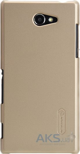 Чехол Nillkin Super Frosted Shield Sony Xperia M2 D2302, M2 D2303 Gold