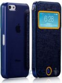 Чехол Momax Flip View case for iPhone 5C Deep Blue