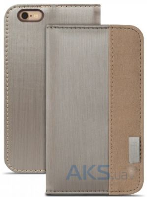 Чехол Moshi Overture Wallet Case Brushed for iPhone 6/6S Titanium (99MO052241)