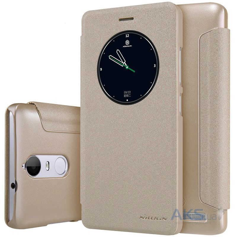 Чехол Nillkin Sparkle Leather Series Lenovo A7020, K5 Note Gold