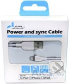 Вид 6 - Кабель USB JCPAL Power and Sync 1m (JCP6022) White