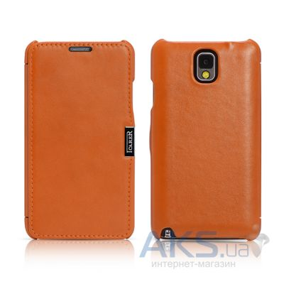 Чехол iCarer Side Open Luxury for Samsung N9000 Galaxy Note 3 Orange