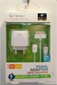 Зарядное устройство Parmp Usb Home Charger 2.1 A для Apple (TAMU-03UE) + кабель Dock, Micro, Lightning White