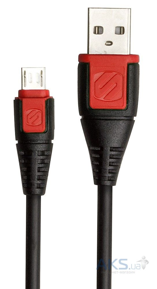 Кабель USB Scosche syncABLE™ Micro USB Cable Black / Red (USBM3RD)