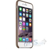 Вид 4 - Чехол Apple Leather Case iPhone 6 Olive Brown (MGR22)