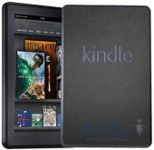 3ащитныя плeнкa SGP Premium Protective Cover Skin Leather Deep  Amazon Kindle Fire Black (SGP08493)