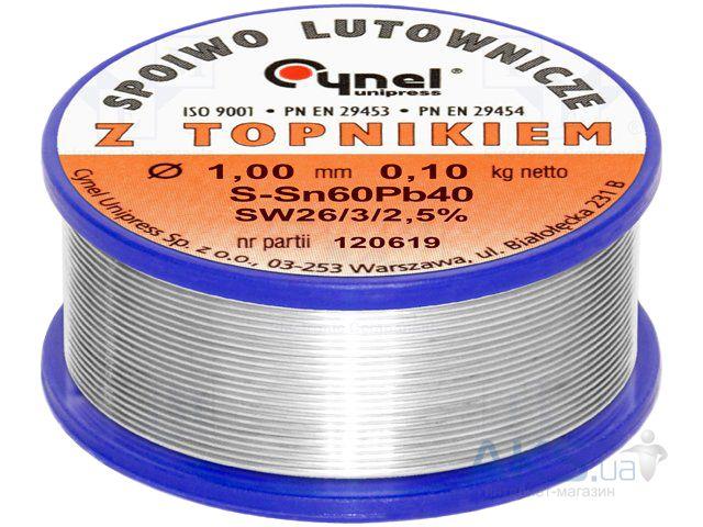 Припой Sn60Pb40 D 1 мм 25 г на пластмассовой катушке Sparta 913325