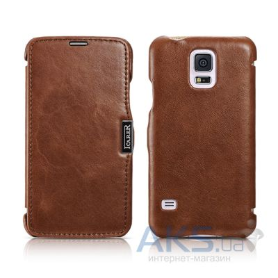 Чехол iCarer Side-open Vintage for Samsung G900 Galaxy S5 Brown