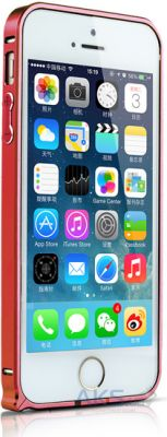 Чехол New Metal Bumper 0.7mm Apple iPhone 5, iPhone 5S, iPhone 5SE Red