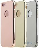 Вид 2 - Чехол Rock Infinite Mirror Series Apple iPhone 6, iPhone 6S Rose Gold