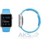 Вид 3 - Умные часы Apple Watch Sport 42mm Aluminum Silver with Blue Sport Band (MJ3Q2)