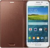 Вид 2 - Чехол Samsung Flip Wallet Cover для Galaxy S5 mini G800 Rose Gold (EF-FG800BFEGRU)