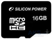 Карта памяти Silicon Power 16 GB microSDHC Class 4 (SP016GBSTH004V10)