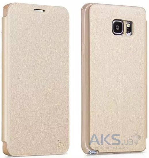 Чехол Hoco Juice Nappa Series Samsung N920 Galaxy Note 5 Gold