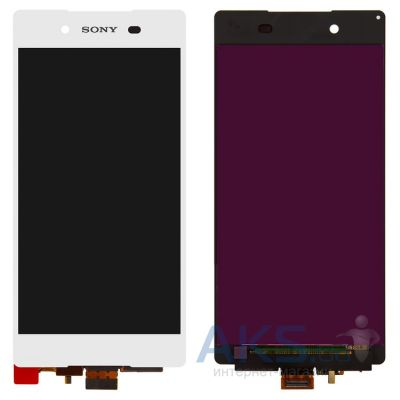 Дисплей (экран) для телефона Sony Xperia Z3+ E6533, Xperia Z4 DS E6553 + Touchscreen Original White