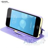 Вид 4 - Чехол Usams Book case Batterfly for iPhone 5C Violet