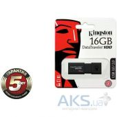 Вид 3 - Флешка Kingston 16Gb DataTraveler 100 Generation 3 USB3.0 (DT100G3/16GB) Black