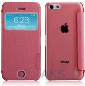 Вид 3 - Чехол Momax Flip View case for iPhone 5C Pink