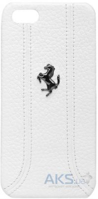 Чехол CG Mobile Ferrari Leather Hard Back FF Collection Apple iPhone 5, iPhone 5S, iPhone SE White (FEFFHCP5FW)