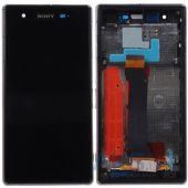 Дисплей (экран) для телефона Sony Xperia Z1s C6916 + Touchscreen with frame Original Black