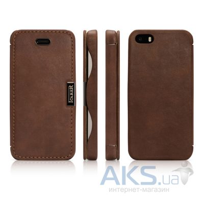 Чехол iCarer Vintage Side-open Apple iPhone 5, iPhone 5S, iPhone 5SE Brown