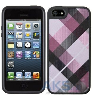 Чехол Speck FabShell MegaPlaid Mulberr Apple iPhone 5, iPhone 5S, iPhone 5SE Black