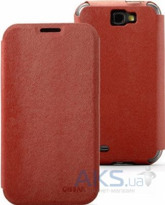 Чехол Gissar Mink For Samsung Galaxy N7100 Note II Red